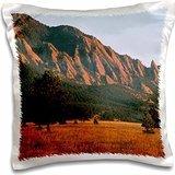 Sandy Mertens Colorado - Black Ridge Canyons Wilderness Flatirons in Summer - 16x16 inch Pillow Case