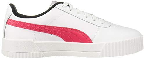 PUMA Women's Carina Sneaker, White-Nrgy Rose, 6 M US