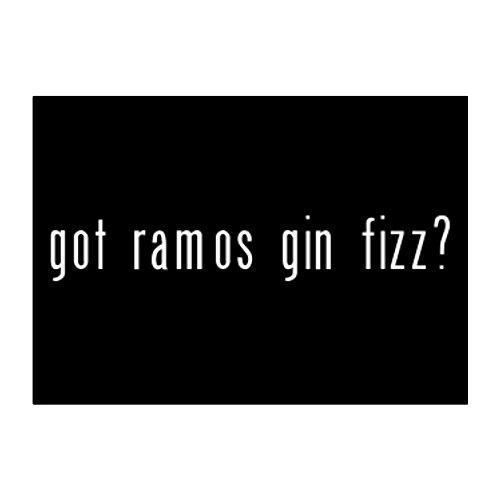 Teeburon Got Ramos Gin Fizz? Pack of 4 Stickers