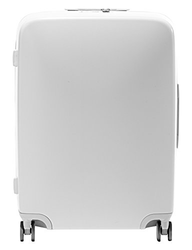 Raden A28 Check-In Smart Luggage, White Gloss