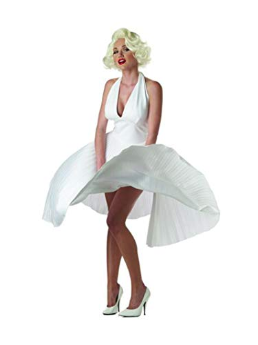 Madonna Halloween Costumes Material Girl (California Costumes Women's Adult Deluxe Marilyn, White, M (8-10))