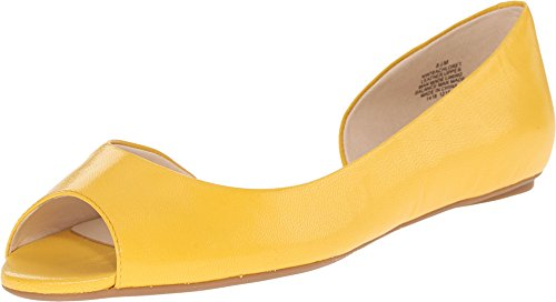 Nine West Women's Bachloret Yellow Leather Sandal (Nine West Flat Sandals Women)