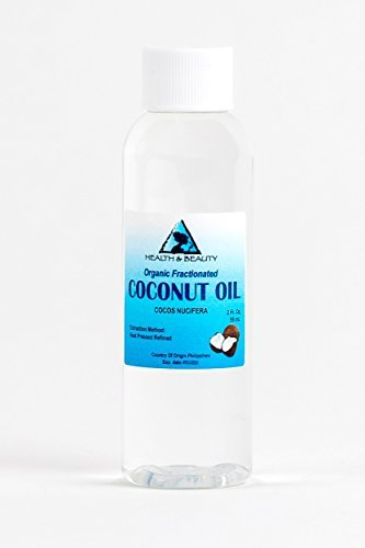 Coconut Oil Fractionated MCT Organic Carrier Ultra Refined Premium 100% Pure 2 oz by H&B Oils Center Co. (Image #1)