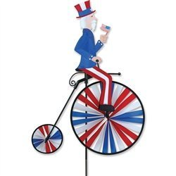 High Wheel Bike Spinner - Uncle Sam by Premier Kites