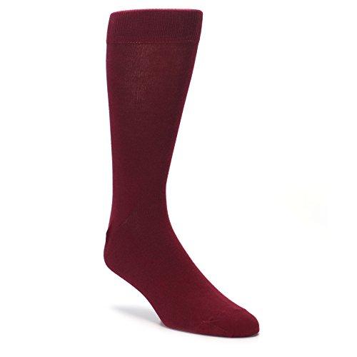 Boldsocks Solid Color Men's Dress Socks (8-12, Burgundy)