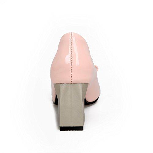 Balamasa Femmes Assorties Couleur Chaton-talons En Cuir Verni Pompes-chaussures Rose