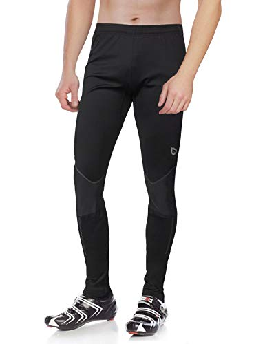 (Baleaf Men's Cycling Tights Running Winter Thermal Pants Size XL)