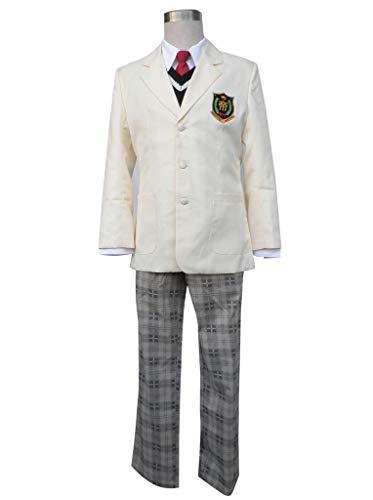 Mtxc Men's The Prince of Tennis Cosplay Hyotei Gakuen Male Uniforms Size XS-Plus White]()