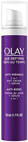 Face Serum by Olay Age Defying Anti-Wrinkle 2-in-1 Day Cream Plus Face Serum, 50 mL