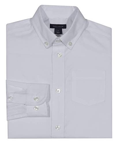 cbe2acefa Tommy Hilfiger Boys' Little Long Sleeve Solid Oxford Button-Down Dress Shirt,  White