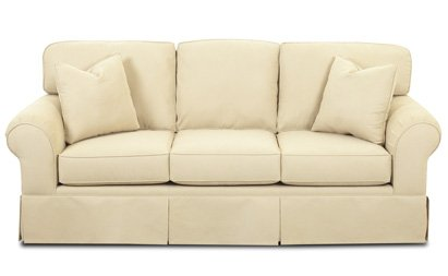 Miami Queen Sleeper Sofa in Microsuede Sand