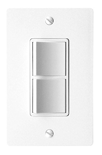 (Panasonic FV-WCSW21-W WhisperControl Two-Function On/Off Switch, White Compatible with Fans)
