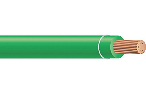 Southwire 22977336 Simpull THHN or THWN2, 10 Gauge THHN Stranded Wire, 50' per Roll, Green (Wire Green Thhn)