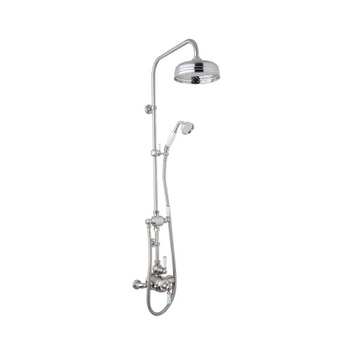 Rohl UKIT1L-APC Perrin and Rowe Shower System with Thermo Valve Diverter 31-Inch Riser and Metal Lever Handles Polished Chrome
