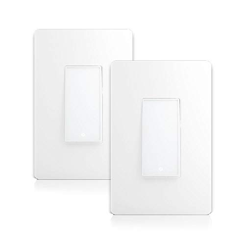 Smart WiFi Light Switch (Single-Pole Only) by LUMIMAN 2 Pack, Easy In-Wall Installation(Neutral Wire Required), Compatible with Alexa and Google Home