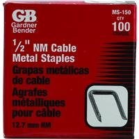 Gardner Bender MS-150 1/2-Inch Metal Cable Staples, 100-Pack