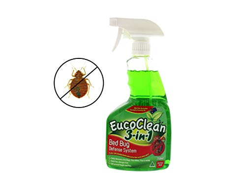 Eucoclean Natural Bed Bug Spray, 25oz - Safely Eliminate Bed Bugs, Fleas, Dust Mites, Ticks and More - Fast and Effective, A Non-Toxic and Eco-Friendly Treatment for Home, Bedding, Carpets and More