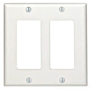 Leviton 80409-N 2-Gang Decora/GFCI Device Decora Wallplate, Standard Size, Brown, 25-Pack