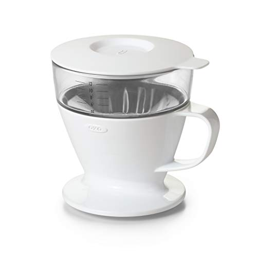 Control Ceramic Single (OXO BREW Single Serve Pour Over Coffee Dripper with Auto-Drip Water Tank)