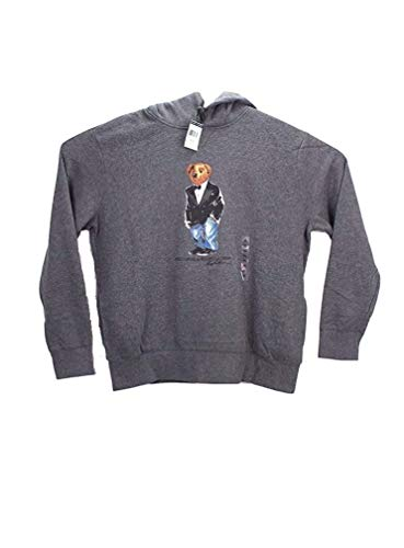 Polo Ralph Lauren Tuxedo Bear Hoodie Sweatshirt Fleece XXL Grey