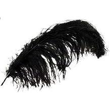 Bulk Buy: Midwest Design Ostrich Plume Feathers 1/Pkg Black MD38166 (3-Pack)