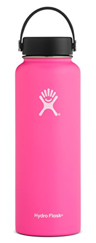 - Hydro Flask 40 oz Double Wall Vacuum Insulated Stainless Steel Leak Proof Sports Water Bottle, Wide Mouth with BPA Free Flex Cap, Flamingo