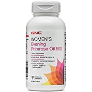 GNC Women's Evening Primrose Oil 500, 90 Softgels, Helps Maintain Smooth, Healthy Looking Skin