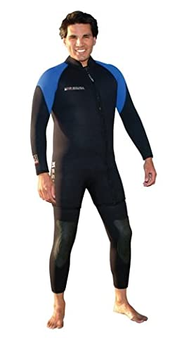 XS Scuba 7mm Mens Pyrostretch Two-piece,farmer john and step-in jacket wetsuit - X-Large