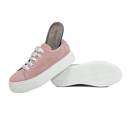 Cómodo Sneakers Mujer Zapato Con Memory Plataforma España Hechos Rosa Foam Mimao En Plantilla Mujer Zapatos Zapatilla Piel Blanca cvPzZg7