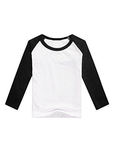 Baseball Kids T-shirt (Boys' Raglan Baseball Tee Girls' Long Sleeve Jersey T Shirts Unisex Baby Kid Tops)