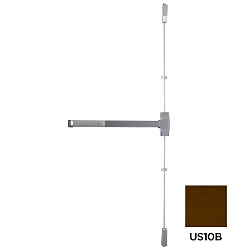 Dexter Commercial Hardware ED1000-V-EO-3-X7-10B Grade1 Exit Only V, Series Surface Vertical Rod Panic Device, 10B, Oil Rubbed Dark Bronze