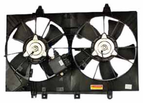 TYC 621870 Infiniti Replacement Radiator/Condenser Cooling Fan Assembly