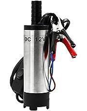 Baoblaze Rvs Water Olie Brandstof Transfer Pomp Mini Brandstofpomp Elektrische Pomp Olie Vloeibare Brandstof Water Auto Oliepomp: - 12V 38mm Klem