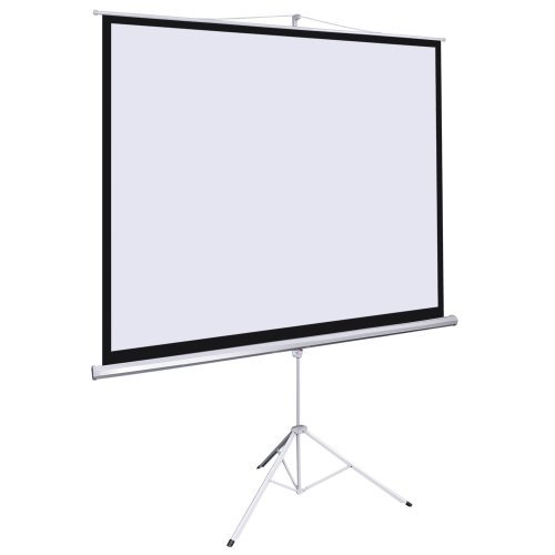 Office Home 100'' Tripod Portable Projection Screen Square 70x70 Projector Stand by Other Home Theater Projection Screens
