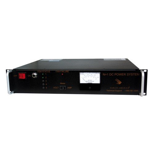 Samlex SEC-40BRM Rackmount 40A AC/DC Power Supply with Battery Backup, Provides N + 1 redundancy, Voltage/Ampere meter display, Highly regulated output voltage