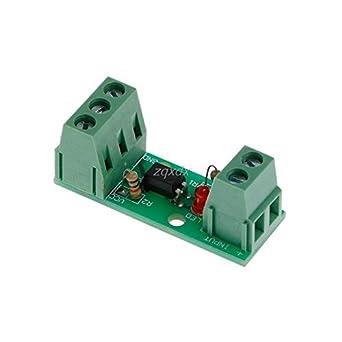 12V 80KHz 1 Channel Optocoupler Isolation Module Board No Din Rail PLC Processor