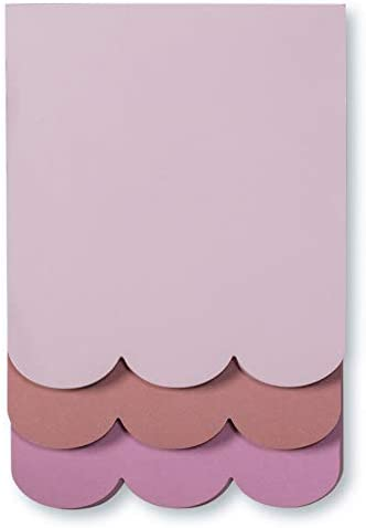 Kate Spade New York Schreibtisch-Notizblock, mit 3 Notizblöcken mit 75 Blatt Muschel