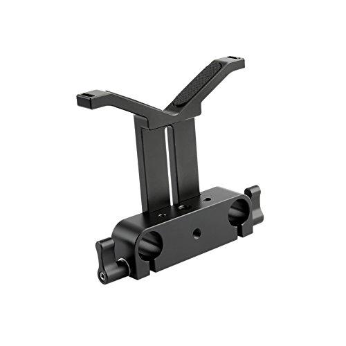 Lens Support Rods - NICEYRIG Long Lens Support Bracket Height Adjustable with 15mm Rod Clamp for DSLR Camera Shoulder Rig
