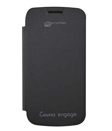 online store a5073 fdf53 Micromax Canvas Engage A091 Flip Cover - Black: Amazon.in: Electronics