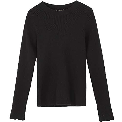 Sweaterautumnwinternew Sweaterautumnwinternew Sweaterautumnwinternew black Lazy Styleslimlong EKFHOS Windknitted Sleevessweaterbottomingheadsweaterfemale qEnfB4Cwx
