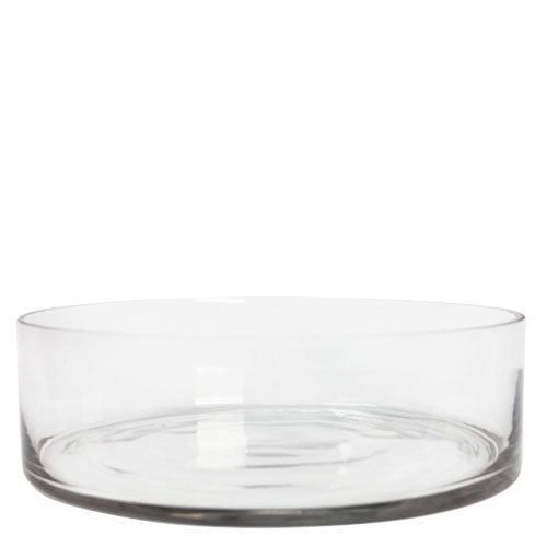 Amazon Clear Wide Short Pan Cylinder Glass Vase Candle Holder