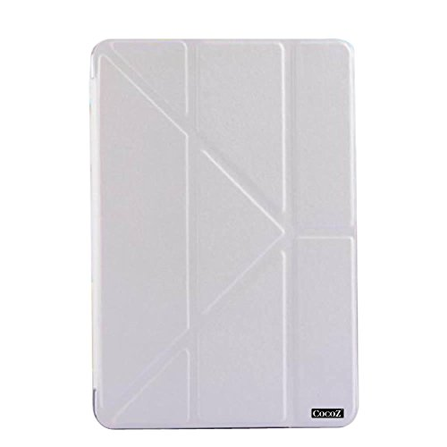 CocoZ® iPad Mini Case_1 iPad mini 2/3 Case_1Beautiful color Series Smart Cover +Folding mode Transparent Back Cover Ultra Slim Light Weight Scratch-Resistant Lining Built-in Magnet for Sleep / Wake Feature iPad mini Cover for iPad mini iPad mini 3/2 (White)