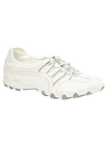 Comfortview Femmes Plus Taille Tory Élastique Dentelle Sneaker Blanc