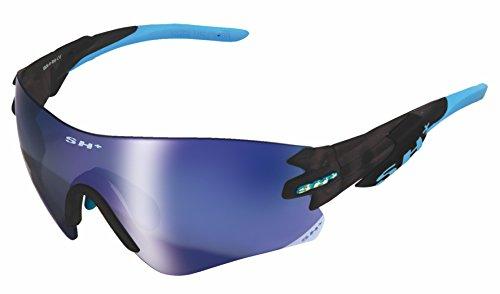 SH + RG 5200, lunettes Mixte adulte M Graphite/Revo Laser Blu