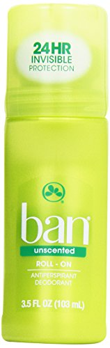 Ban Roll-On Antiperspirant Deodorant, Unscented, 3.5 - Scented Roll Anti Perspirant On