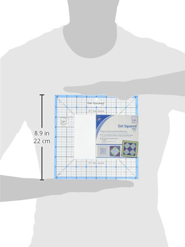 June Tailor JT743 8-1//2-Inch Outer 4-1//2-Inch Inner Get Squared Ruler