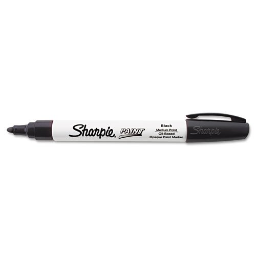 Sharpie Oil-Based Paint Marker, Medium Point, Black, 1 Count - Great for Rock Painting (Black Marker Sharpie Paint)