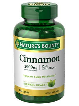 Nature's Bounty High Potency Cinnamon 2000mg Plus Chromium 400mcg, 60-Count (Pack of 6) Bounty -shf9