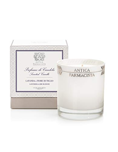 Lime Blossom Soy Wax Candle - Antica Farmacista Platinum Round Candle, Lavender & Lime Blossom, 9.0 oz