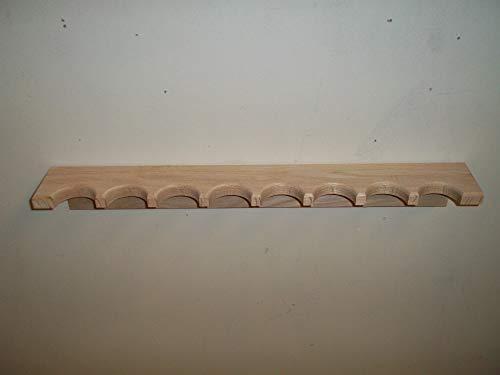 - Oak Closet Gun Rack for 8 Guns
